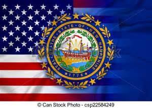 New Hampshir state flag image